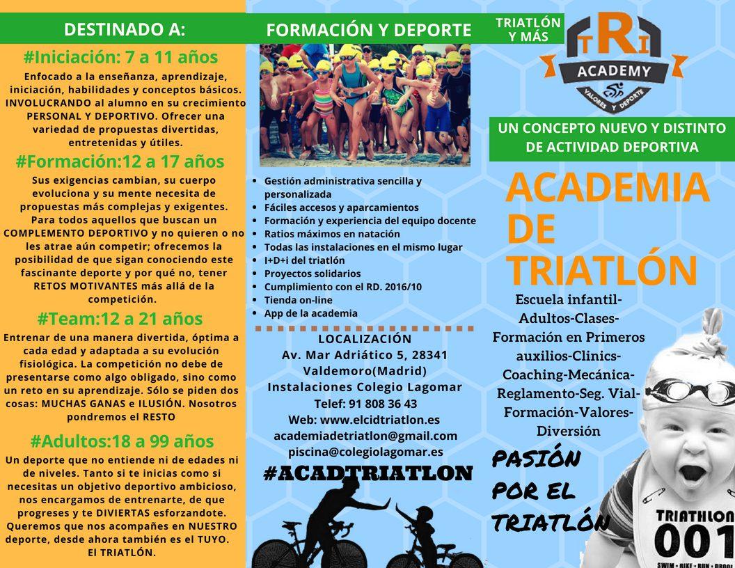 Academia de Triatlón . Valdemoro Triatlón información, clases, club, entrenar, extraescolar, deporte, valores